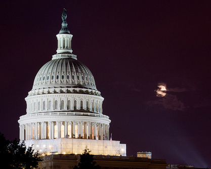 Super Moon Over the Capitol