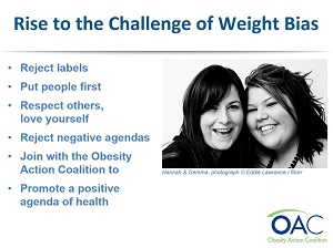 Rise to the Challenge of Weight Bias