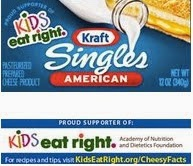 Kraft Singles with KidsEatRight