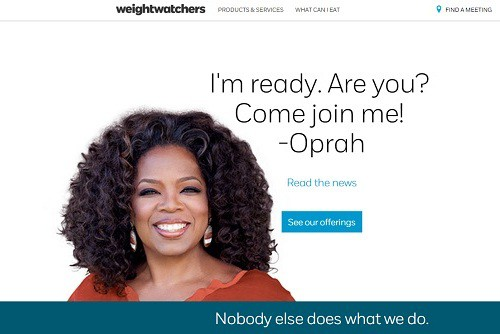 Oprah and Weight Watchers
