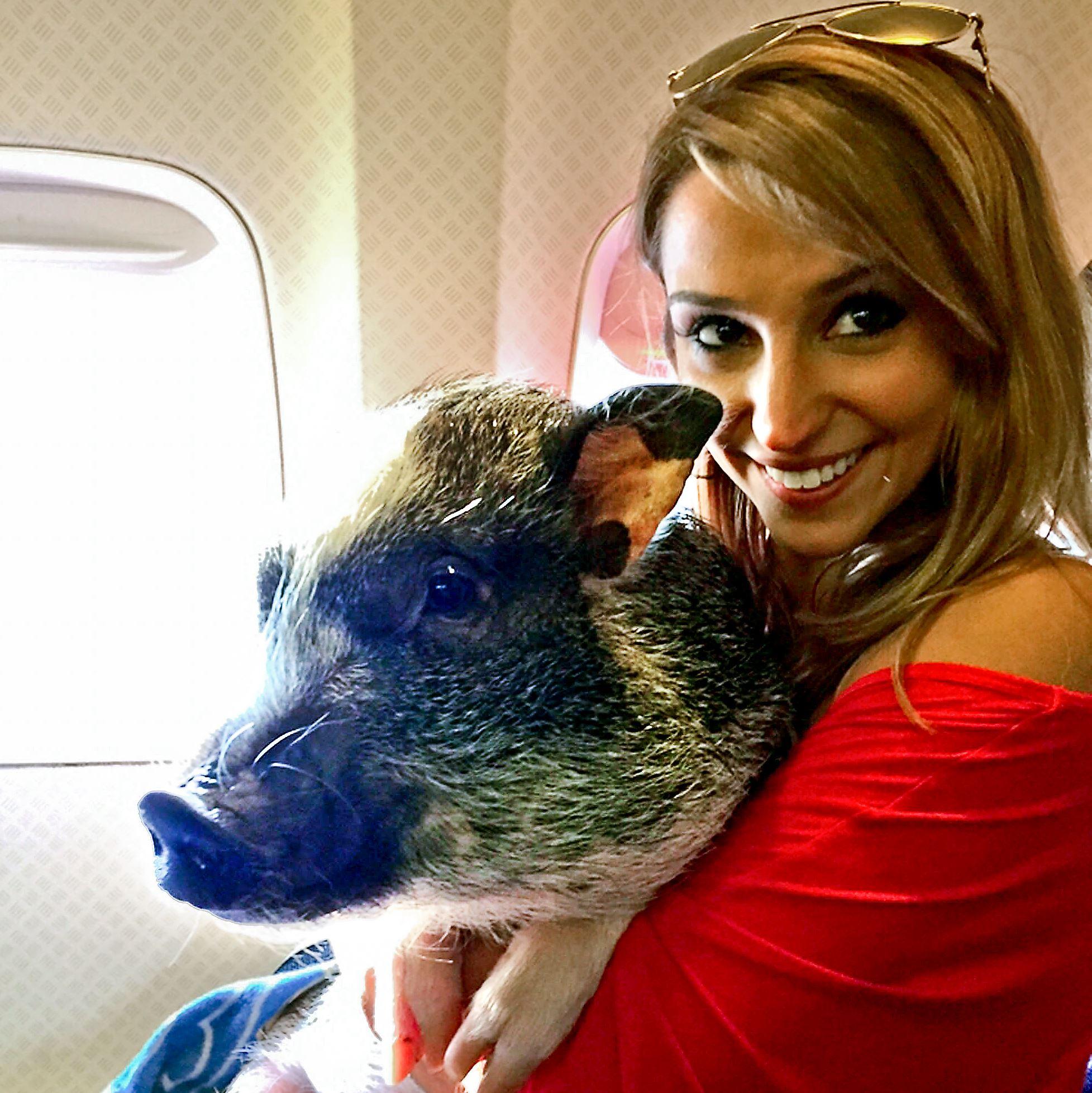 Megan Peabody with Hamlet