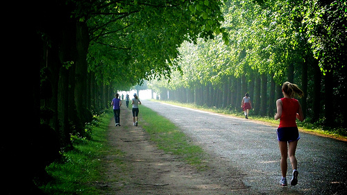 Running, Versailles, France