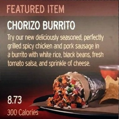 Chorizo Burrito Ad
