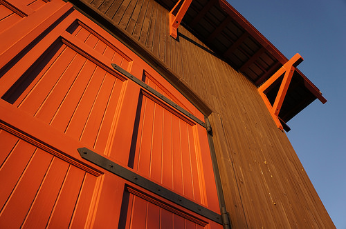 Orange Barn Door