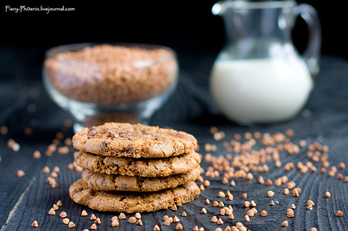 Buckwheat Flour Cookies with Chocolate