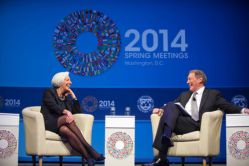Christine Lagarde and Charlie Rose