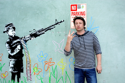 Jamie Oliver and Banksy