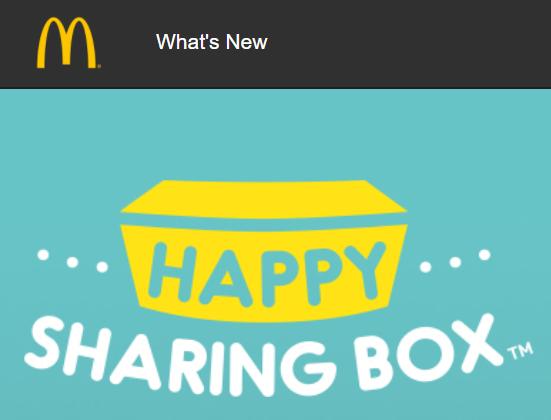 McDonald's Happy Sharing Box