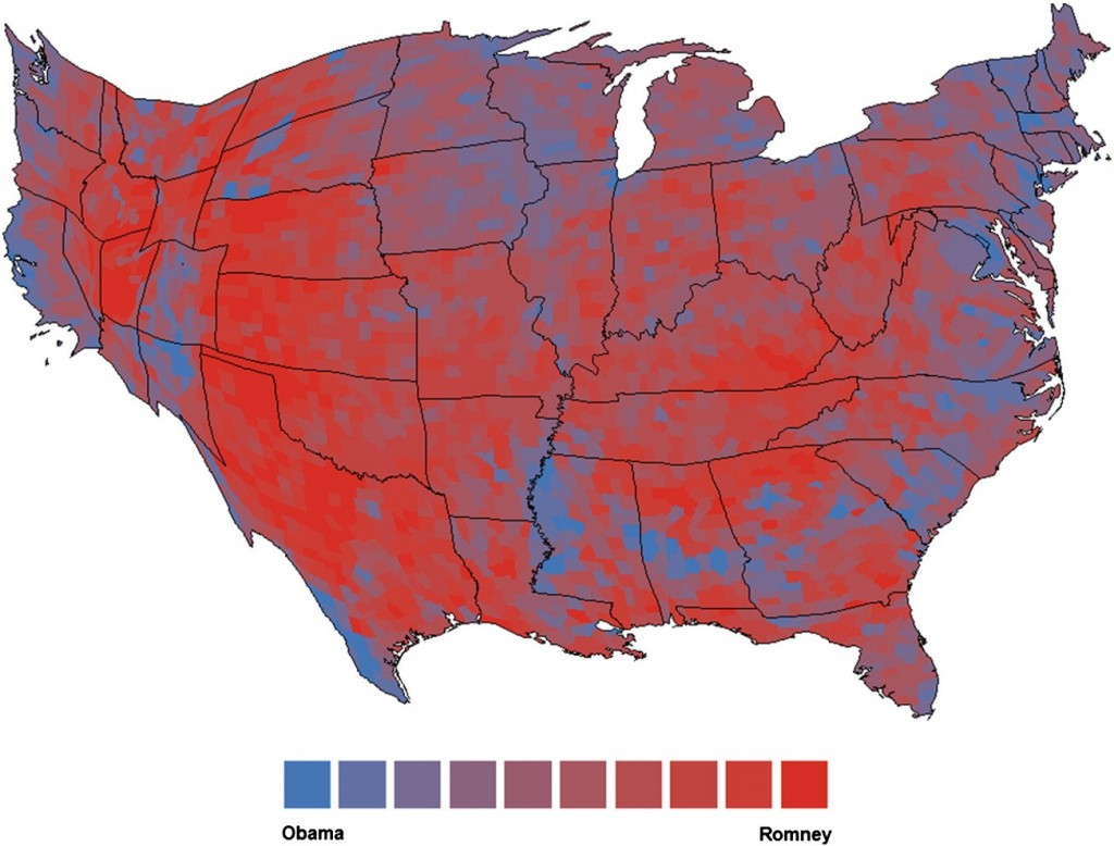 Map of Political Inclination and Obesity