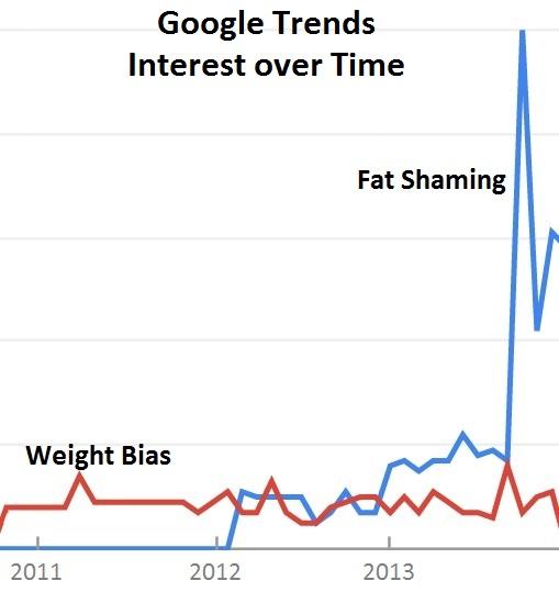 Fat Shaming, Google Trends