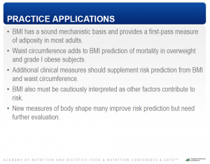 Practice Applications of BMI