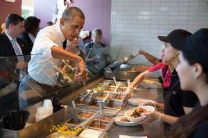 Obama at Chipotle
