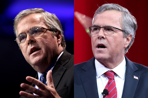 Jeb Bush in 2013 and 2015