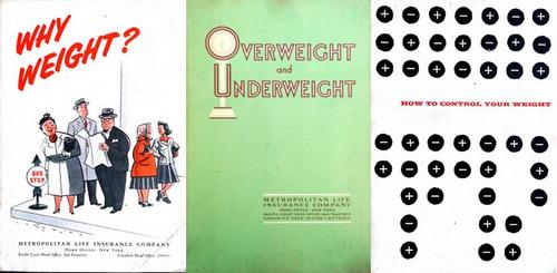 Vintage Overweight Brochures from Metropolitan Life