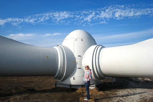 Huge Wind Turbine Rotor
