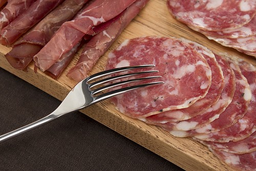 David Mellor Fork with Salami