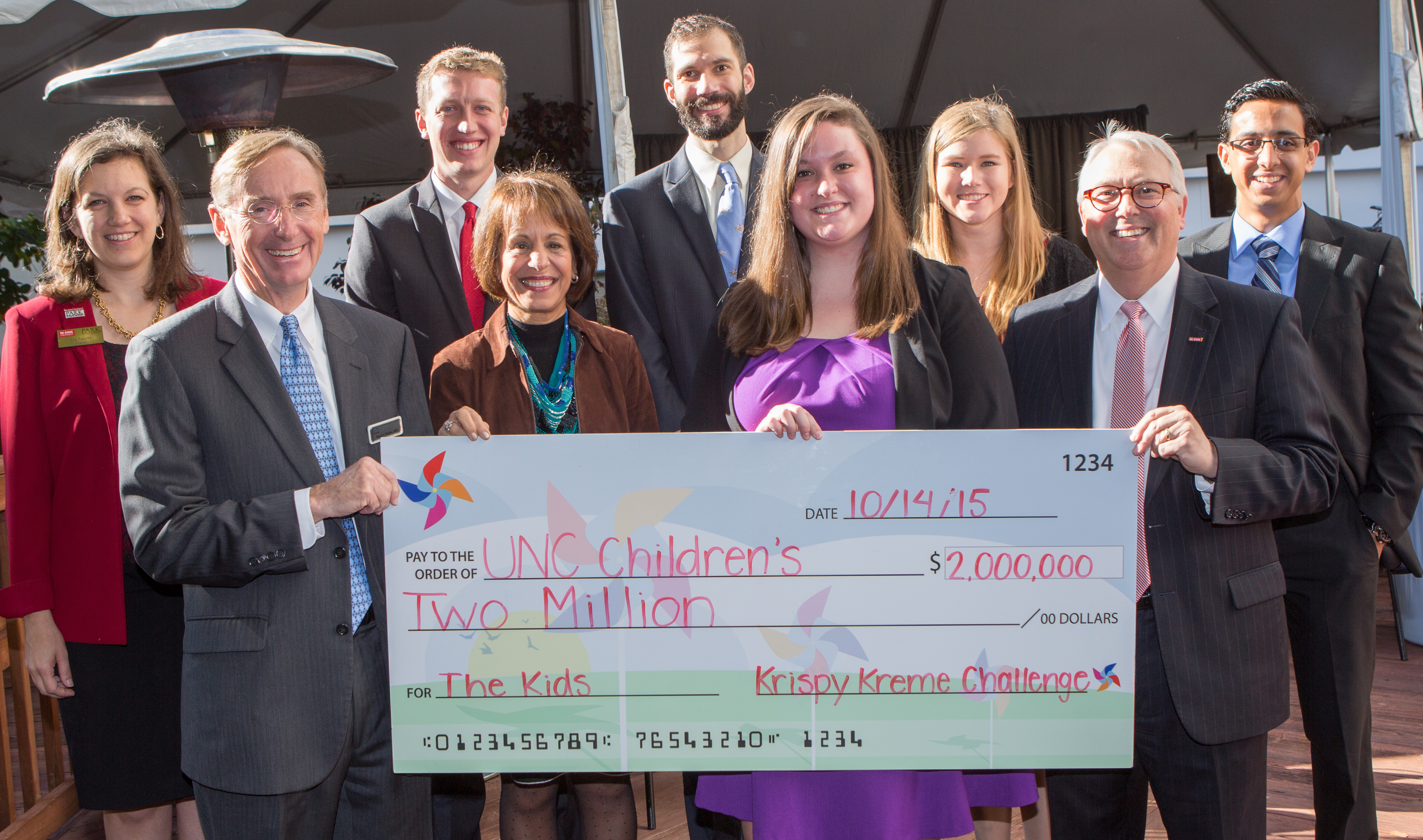 Krispy Kreme Challenge Check to UNC Children's