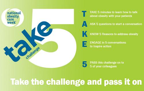 National Obesity Care Week Take 5 Challenge