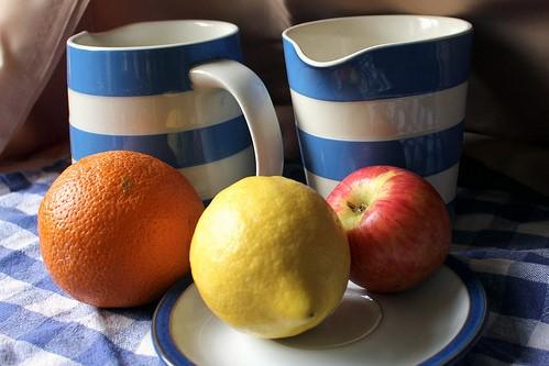 Apple, Orange, and Lemon