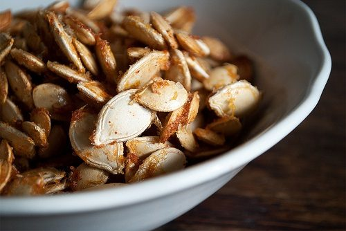 Sweet & Spicy Toasted Pumpkin Seeds