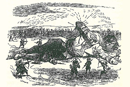 Gulliver Captured by the Lilliputians