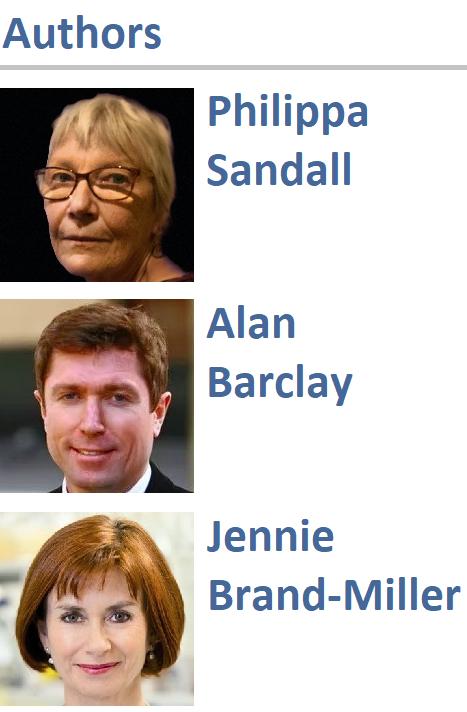 Philippa Sandall, Alan Barclay, and Jennie Brand-Miller