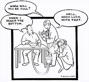 Bottomless Bowl Cartoon