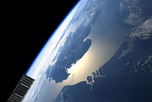 English Channel from the International Space Station