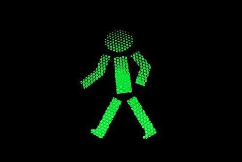 Green Traffic Light Person