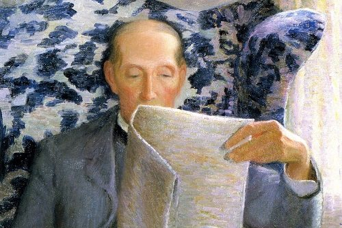 Thomas Sergeant Perry Reading a Newspaper