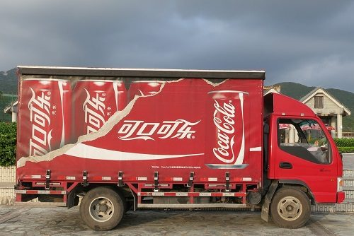 Coca Cola Truck in Sanya, China