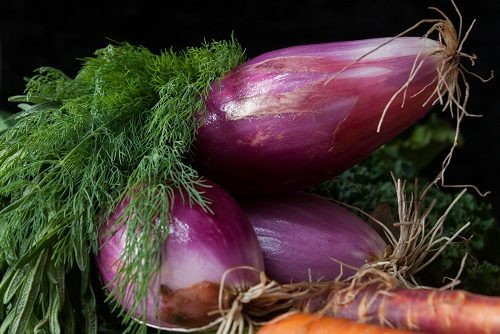 Dill, Red Onions, and Carrots