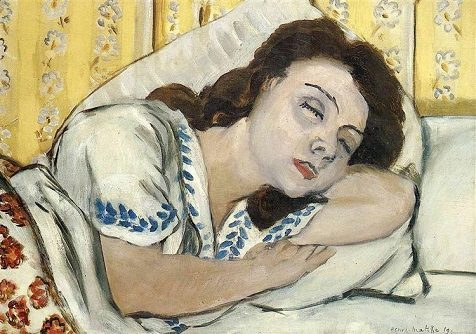 Portrait of Margurite Sleeping, painting by Henri Matisse / WikiArt