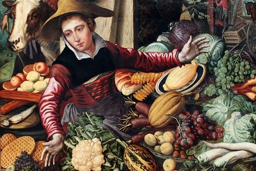 Woman at a Vegetable Stand