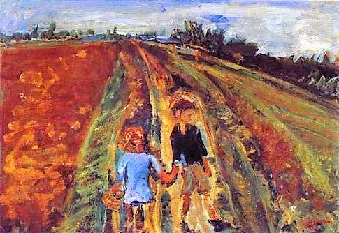 Two Children on a Road