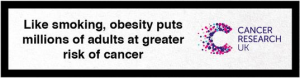CRUK Warning That Obesity Is Like Smoking