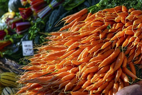 Carrots at the Farmers Market, Portland