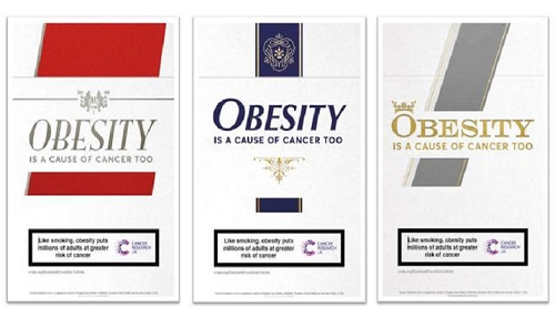 Obesity Is Like Smoking, Billboard by Cancer Research UK