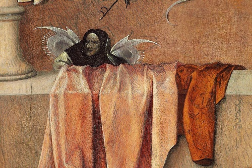 Detail from Death and the Miser
