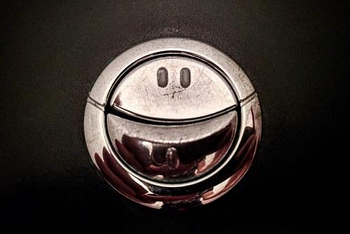 Smiling Toilet Flush