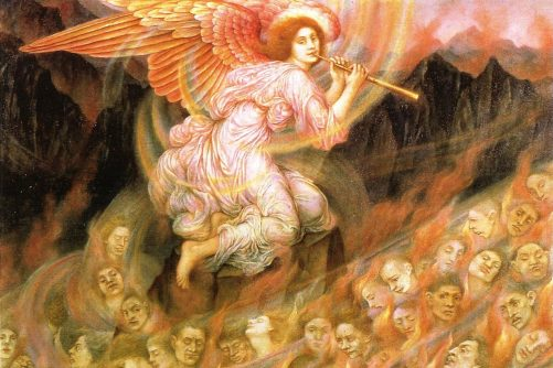 Angel Piping to the Souls in Hell