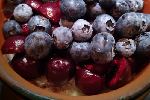 Blueberries, Cherries, and Oatmeal
