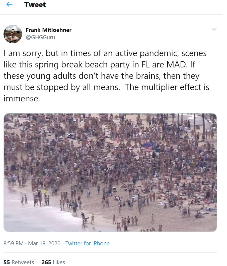 Spring Break, March 2020
