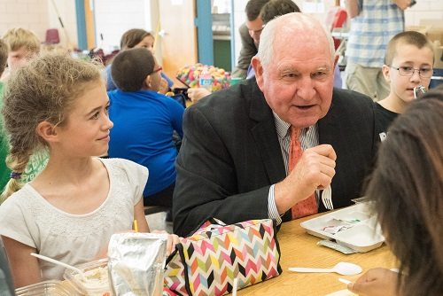 School Lunch with Sonny Perdue