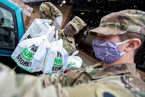Ohio National Guard Serving at the SeaGate Food Bank