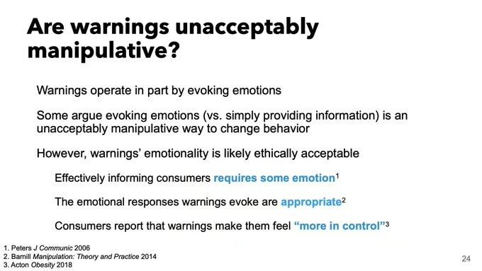 Are Warnings Unacceptably Manipulative