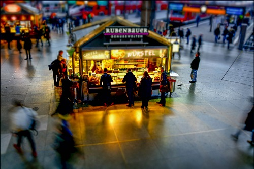 Fast Food at the Munich Hauptbahnhof