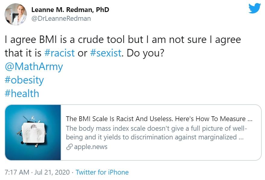 Is BMI Racist?
