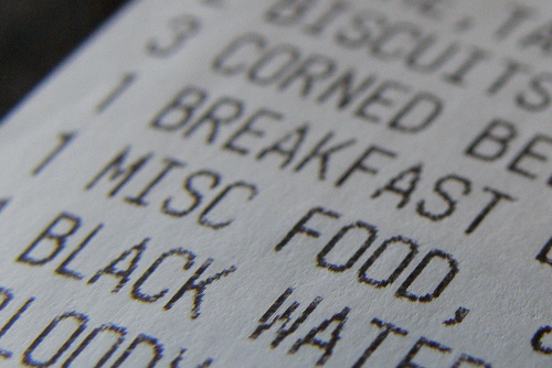 Misc Food Receipt