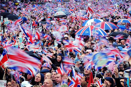 British Crowd at Buckingham Palace